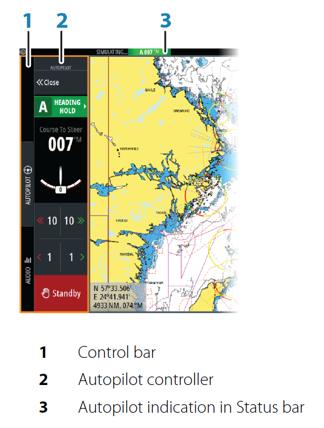 Autopilot control bar