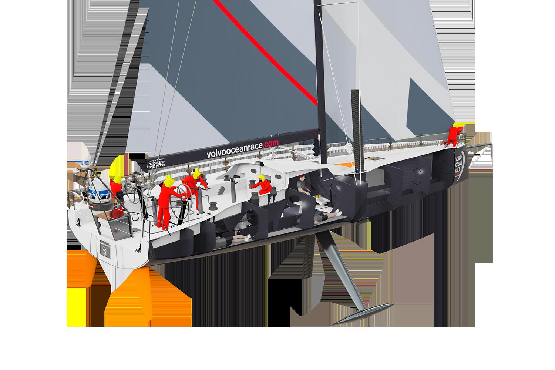 Volvo Ocean Race Boat